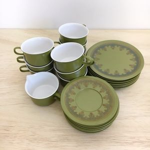 Other - 1960s The Allied Chemical Co. Melamine Tea set